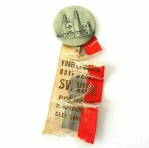Vtg Saint Vitus Church ribbon badge Cleveland OH